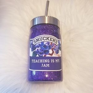 Teaching is my jam 17 oz Mason jar tumbler